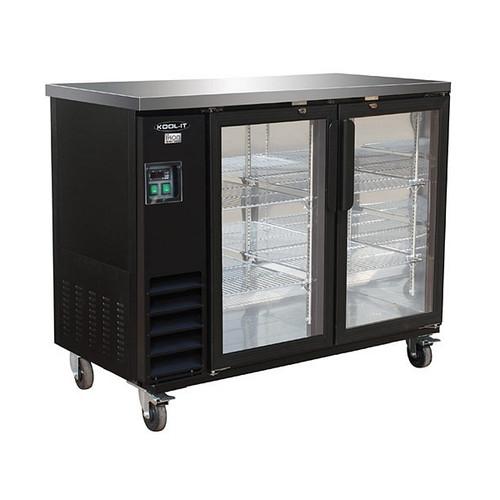 "Ikon Series IBB49-2G-24 49"" Back Bar Refrigerator, 2 Doors"