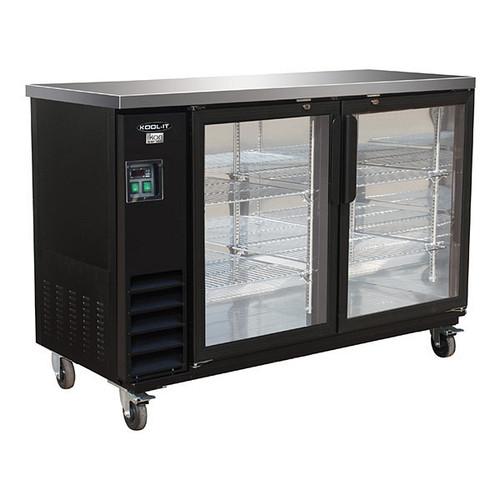 "Ikon Series IBB61-2G-24 61"" Back Bar Refrigerator, 2 Swing Doors"