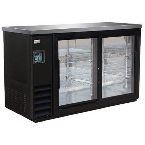 "Ikon Series IBB49-2G-24SD 49"" Back Bar Refrigerator, 2 Sliding Doors"
