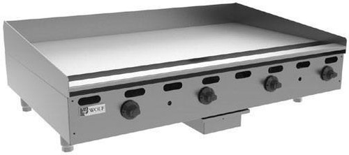"""Wolf AGM72 Heavy Duty 72"""" Countertop Propane Gas Griddle with Manual Control - 162,000 BTU"""