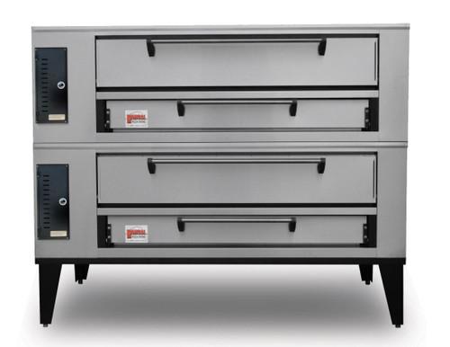 "Marsal SD-448-2-LP 65"" Pizza Deck Oven, Double Deck, Propane Gas"