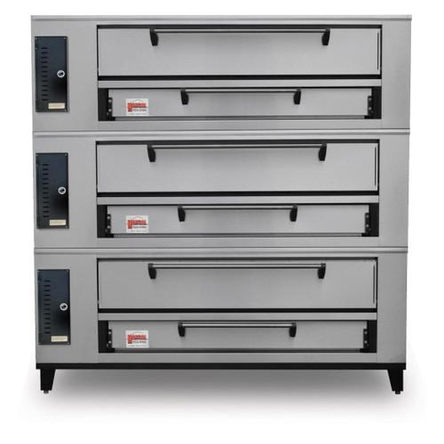 "Marsal SD-660-3-LP 80"" Pizza Deck Oven, Triple Deck, Propane Gas (SD-660-3-LP)"