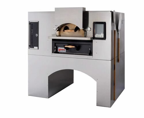 """Marsal WF-42/MB42-NG 62.5"""" Flame Gas Pizza Oven, Double Deck, Natural Gas"""