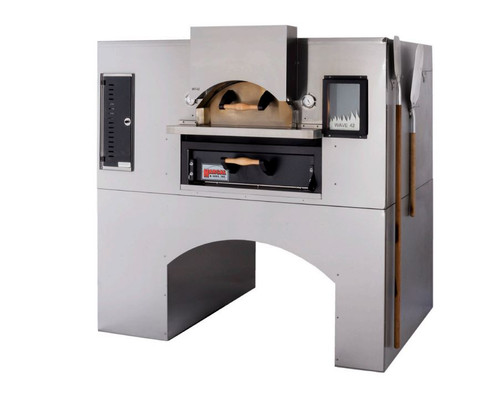 """Marsal WF-60/MB60-NG 80"""" Flame Gas Pizza Oven, Double Deck, Natural Gas"""