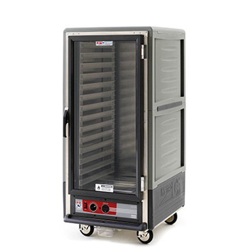 Metro C537-CFS-U Insulation Armor Heated Holding and Proofing Cabinet, 3/4 Height, Gray
