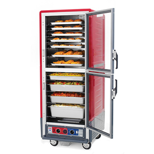 Metro C539-MDS-L Insulation Armor Heated Holding and Proofing Cabinet, Full Height, Red