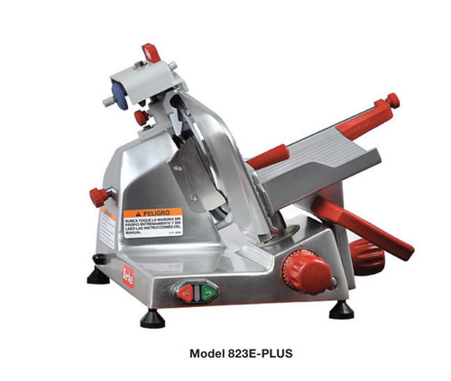 "Berkel 823E-PLUS 9"" Manual Gravity Feed Meat Slicer - 1/4 hp"