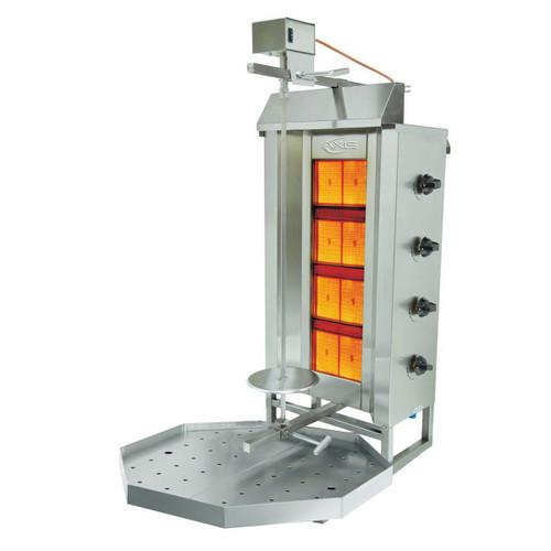 Axis AX-VB4 Gas Vertical Broiler, 4 Burner, Top mount motor
