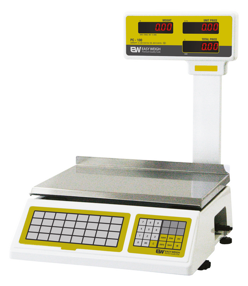 Easy Weigh PC-100-PL Advanced Price Computing Scale w/ Pole Display