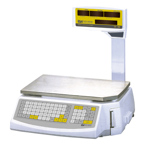 Easy Weigh LS-100-N 60 Lb Networking And Price Computing And Printing Scale, Pole Display