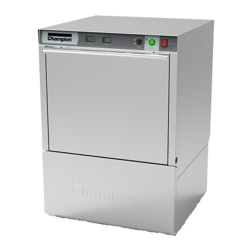 Champion UH130B Undercounter High Temperature Dishwashing Machine with Built-in Booster Heater (UH130B)