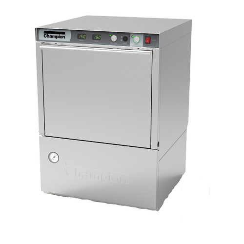 Champion UH230B Undercounter High Temperature Dishwashing Machine with Built-in Booster Heater (UH230B)