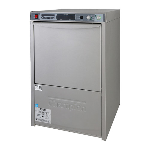 Champion UH330B Undercounter High Temperature Dishwashing Machine with Heat recovery and built in Booster Heater (UH330B)