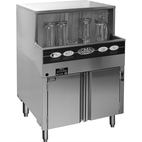 CMA GL-C Low Temperature Glass Washer with ScrapTrap - 208/240v
