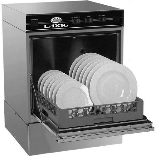 CMA L-1X16 Low Temperature Undercounter Dishwasher with Heater - 115V