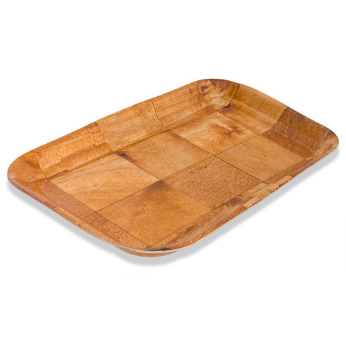 Crestware CWT0812 Woven Wood Tray Rectangle, 8 x 12""