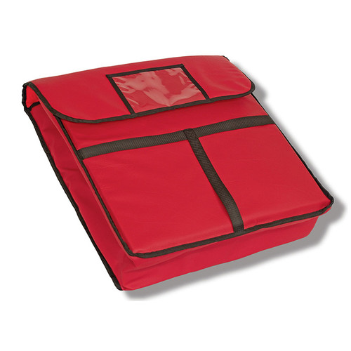 Crestware PZB18 Pizza Bag Red 18x18x5