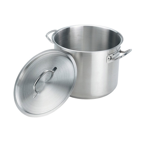 Crestware SSPOT08 8 qt Stainless Steel Stock Pot w/Cover