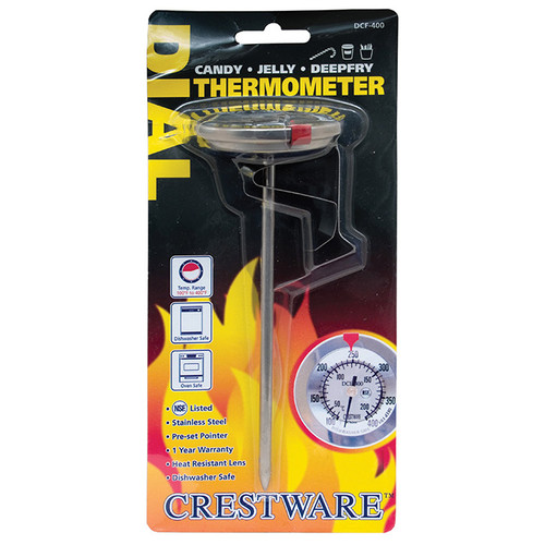 Crestware TRMDCF400 Dial Candy Deep Fry Thermometer