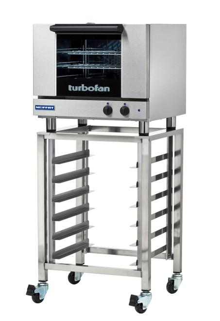 Moffat E22M3-SK23 3 Tray Half Size Electric Convection Oven, Manual Control with SK23 Stand (E22M3-SK23)