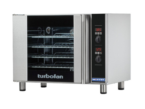 Moffat (E31D4) 4 Tray, Half Size, Electric Convection Oven, Digital Control - 208V (E31D4-P)