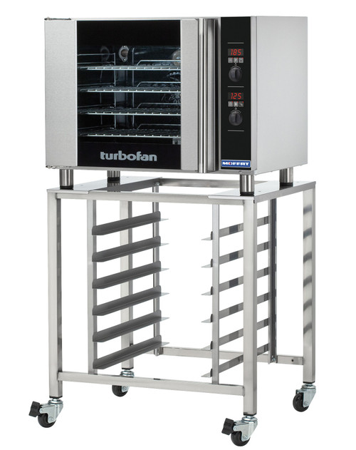 Moffat E31D4, 4 Tray, Half Size Electric Convection Oven Digital Control - with SK2731U Stand (E31D4-SK2731U)
