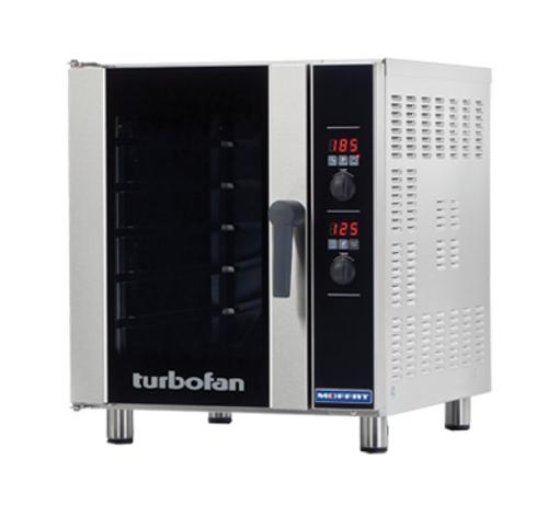 Moffat E33D5-T 5 Tray Half Size Electric Convection Oven, Digital Control - 220V