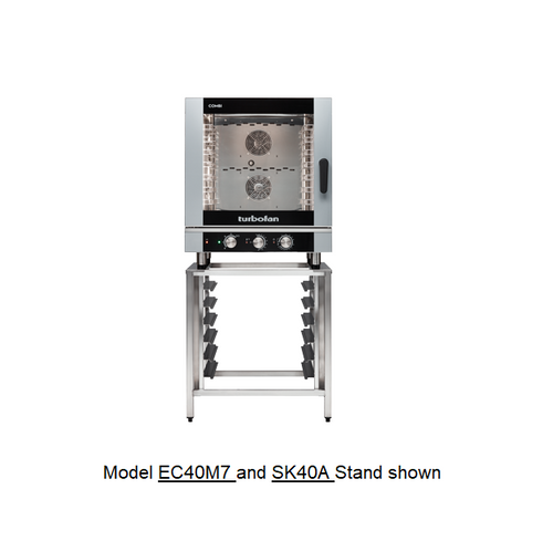 Moffat EC40M7-SK40A 7 Tray Full Size Steam Pan Manual Control Electric Combi Oven - with SK40A Stand