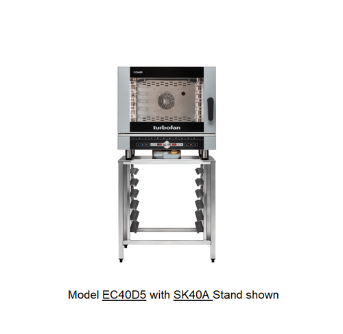 Moffat EC40D5-SK40A 5 Tray Full Size Steam Pan Digital Electric Combi Oven - w/ SK40A Stand