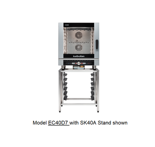 Moffat EC40D7-SK40A 7 Tray Full Size Steam Pan Digital Electric Combi Oven - with SK40A Stand