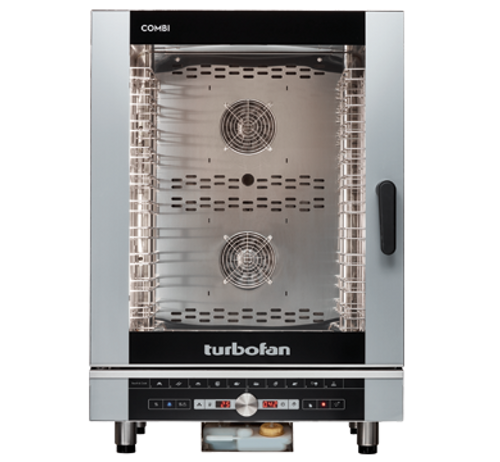 Moffat EC40D10-T 10 Tray Full Size Steam Pan Digital Electric Combi Oven - 240V