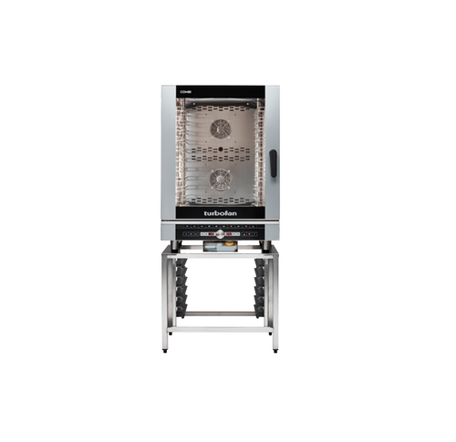 Moffat EC40D10-SK40-10A 10 Tray Full Size Steam Pan Digital Electric Combi Oven - with SK40-10A Stand