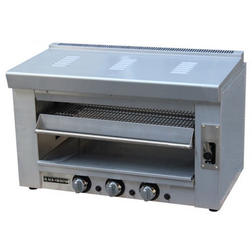 "Adcraft BDSAL-36/NG 35"" Heavy Duty Infrared Gas Salamander - 3 Burners - 36K BTU"