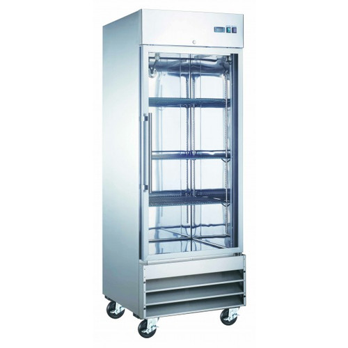 "Adcraft USRF-1D-G 29"" Glass Door Reach-in Refrigerator - 23 Cu. Ft."