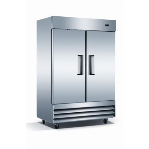 "Adcraft USRF-2D 54"" Solid Door Reach-In Refrigerator - 48 Cu. Ft."