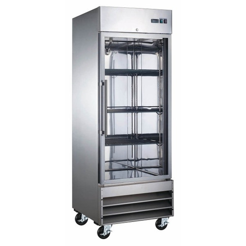 "Adcraft USFZ-1D-G 29"" Glass Door Reach-In Freezer - 23 Cu. Ft."