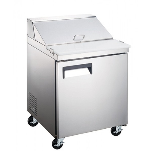 "Adcraft USSL-1D 27"" Refrigerated Salad Sandwich Prep Table - 1 Door - 6 Cu. Ft."