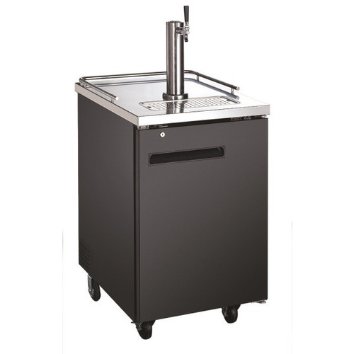 "Adcraft USBD-2428 24"" 1 Single Tap Beer Dispenser - (1) 1/2 Keg Capacity"