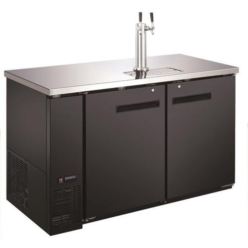"Adcraft USBD-5928/2 59"" 1 Double Tap Beer Dispenser - (2) 1/2 Keg Capacity"