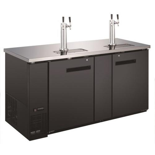 "Adcraft USBD-6928/2 69"" 2 Double Tap Beer Dispenser - (3) 1/2 Keg Capacity"