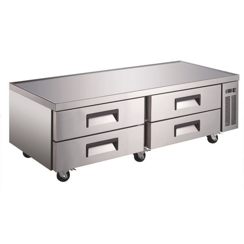 "Adcraft USCB-72 74"" Refrigerated Chef Base - 8 Pans"