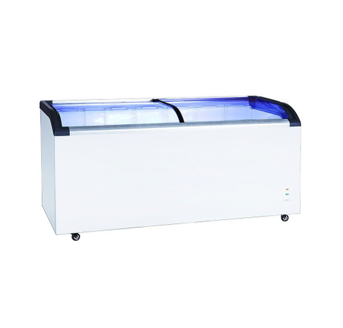 "Adcraft BDCF-12-CG 50"" Curved Sliding Glass Top Chest Freezer, 12.5 Cu./Ft."