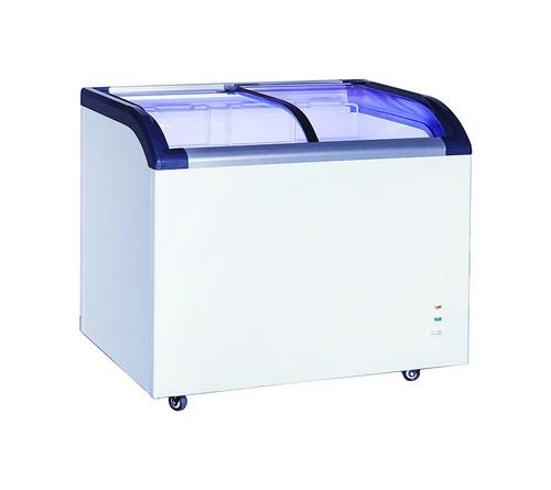 "Adcraft BDCF-6-CG 29"" Curved Sliding Glass Top Chest Freezer, 6.4 Cu./Ft."