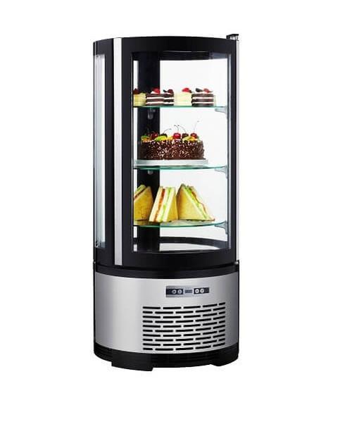 "Adcraft BDRCK-100/CT 19"" Refrigerated Countertop Cake Display, 3.5 Cu./Ft."