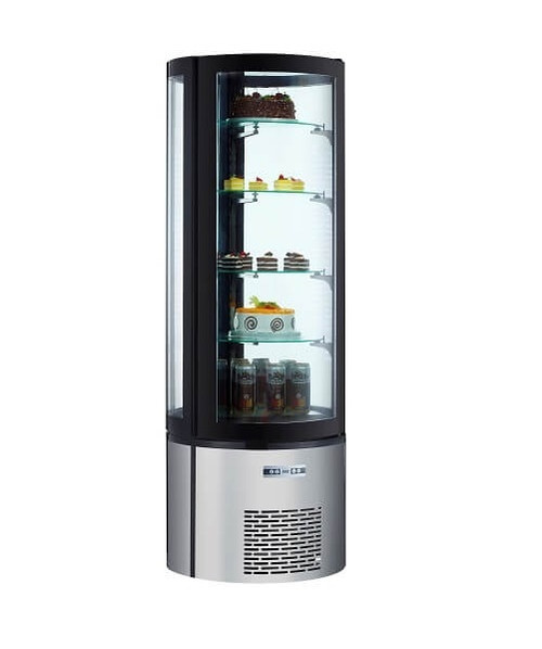 "Adcraft BDRCK-400 27"" Floor Standing Refrigerated Cake Display, 12.7 Cu./Ft."