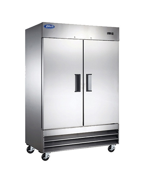 "Adcraft GRFZ-2D 54"" Solid Door Reach-in Freezer, 2 Section, 48 Cu./Ft."