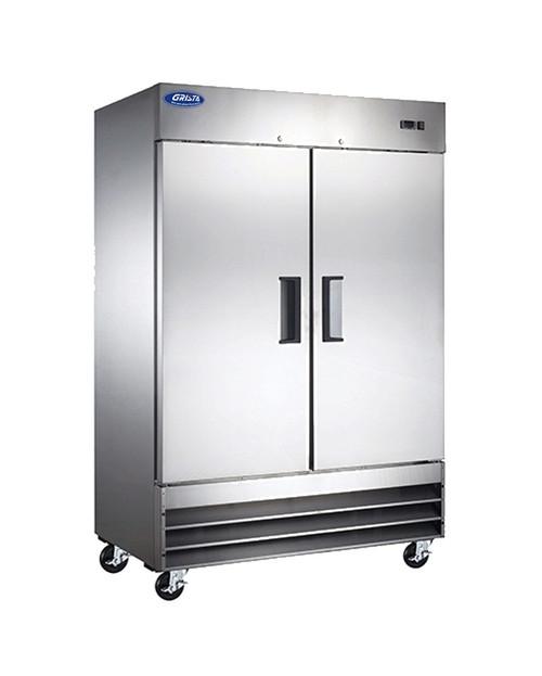"Adcraft GRRF-2D 54"" Reach-in Refrigerator, 2 Section, 48 Cu./Ft."
