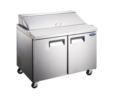 "Adcraft GRSL-2D 47"" Salad Sandwich Prep Table, 2 Section, 12 Cu./Ft."