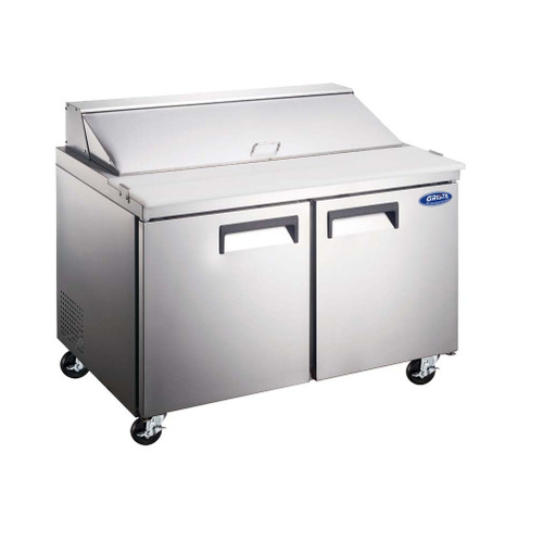 "Adcraft GRSL-2D/60 60"" Salad Sandwich Prep Table, 2 Section, 15 Cu./Ft."