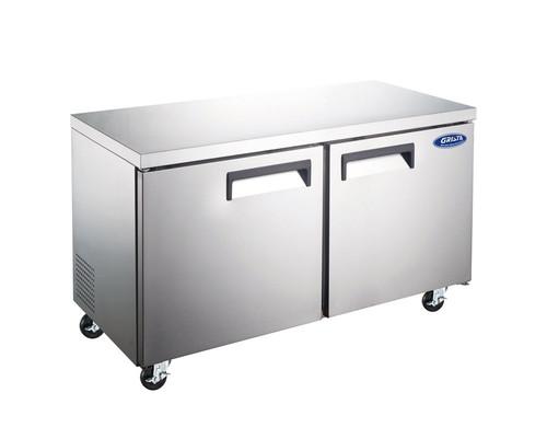 "Adcraft GRUCFZ-48 48"" Undercounter Freezer, 2 Section, 12 Cu./Ft."